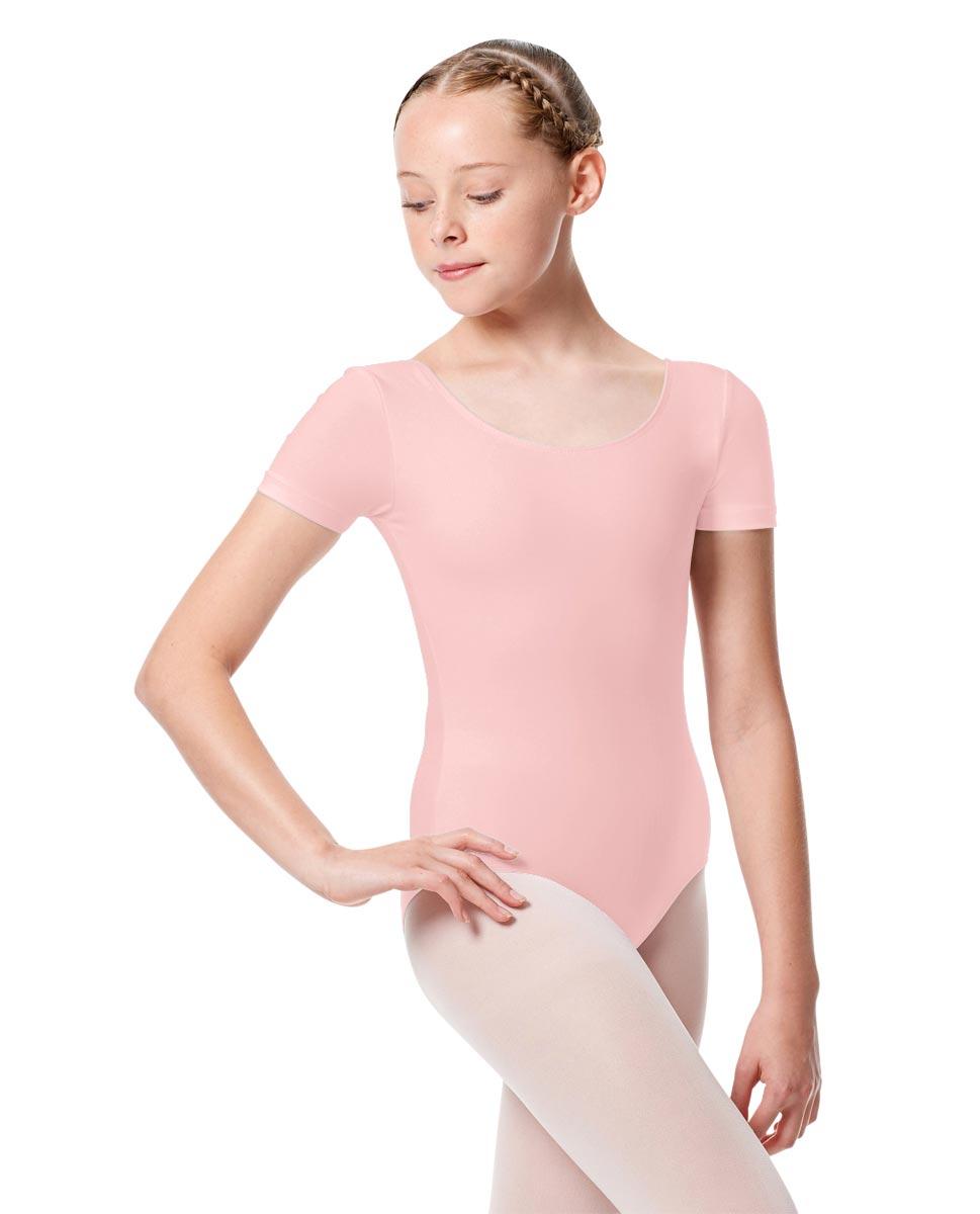 Child Basic Short Sleeve Ballet Leotard Tina PNK