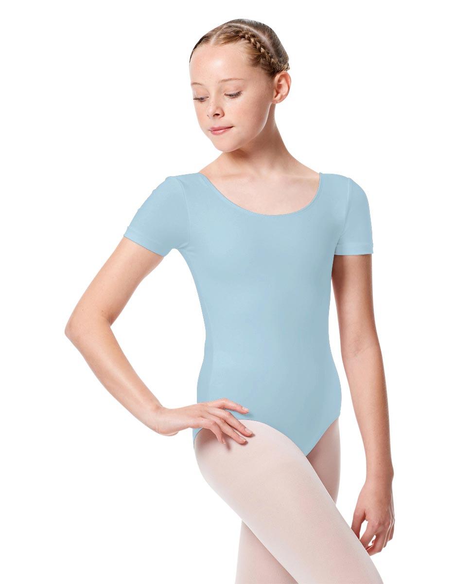 Child Basic Short Sleeve Ballet Leotard Tina SKY