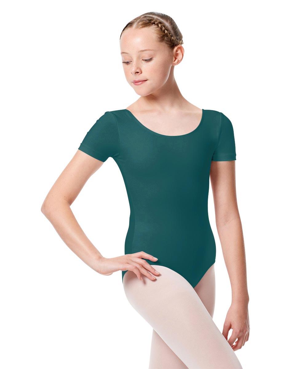 Child Basic Short Sleeve Ballet Leotard Tina TEA