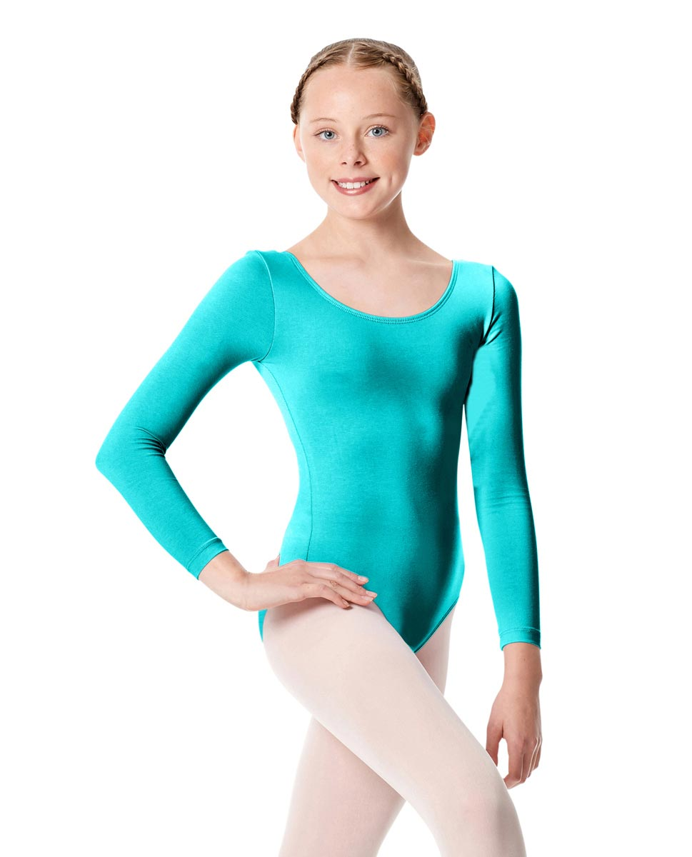 Child Long Sleeve Dance Leotard Martha ABLU