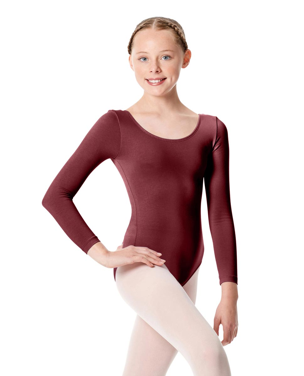 Child Long Sleeve Dance Leotard Martha BUR