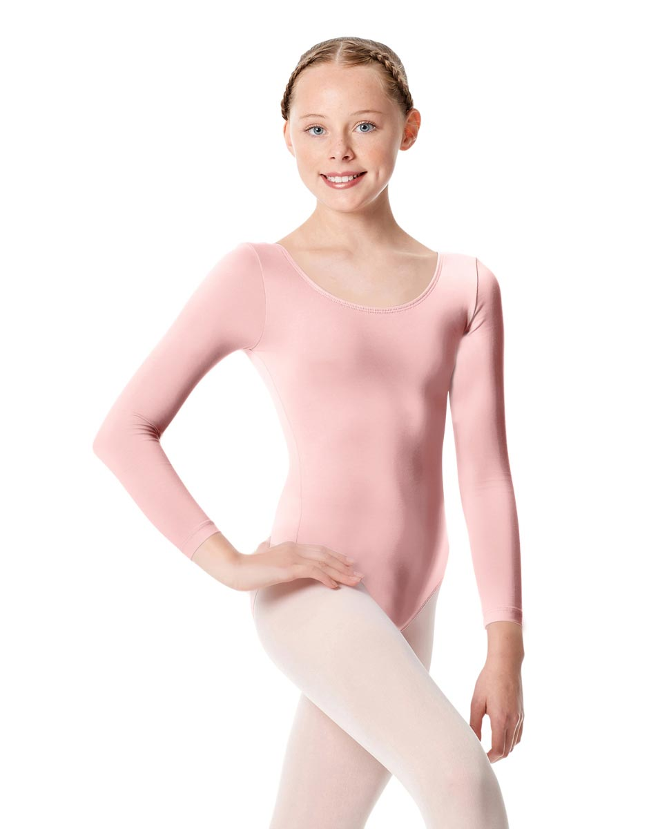 Child Long Sleeve Dance Leotard Martha PNK