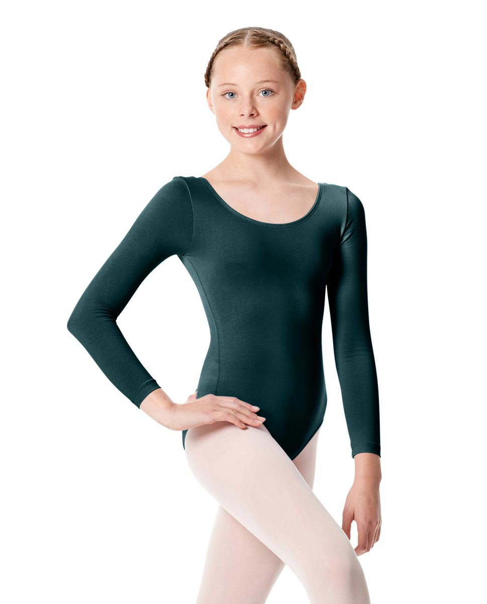 Child Long Sleeve Dance Leotard Martha TEA
