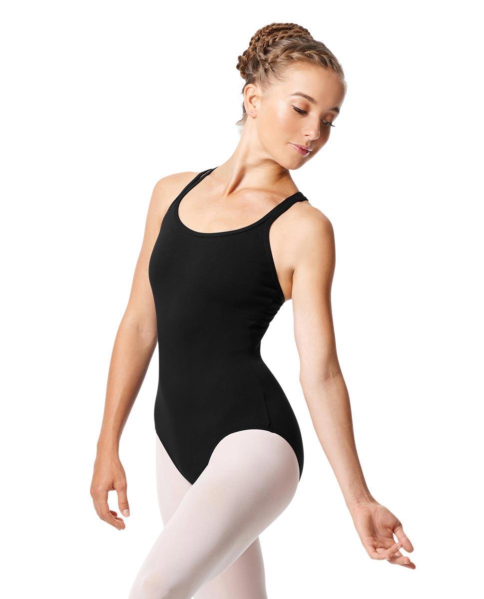 Womens Strappy Camisole Ballet Leotard Larissa BLK