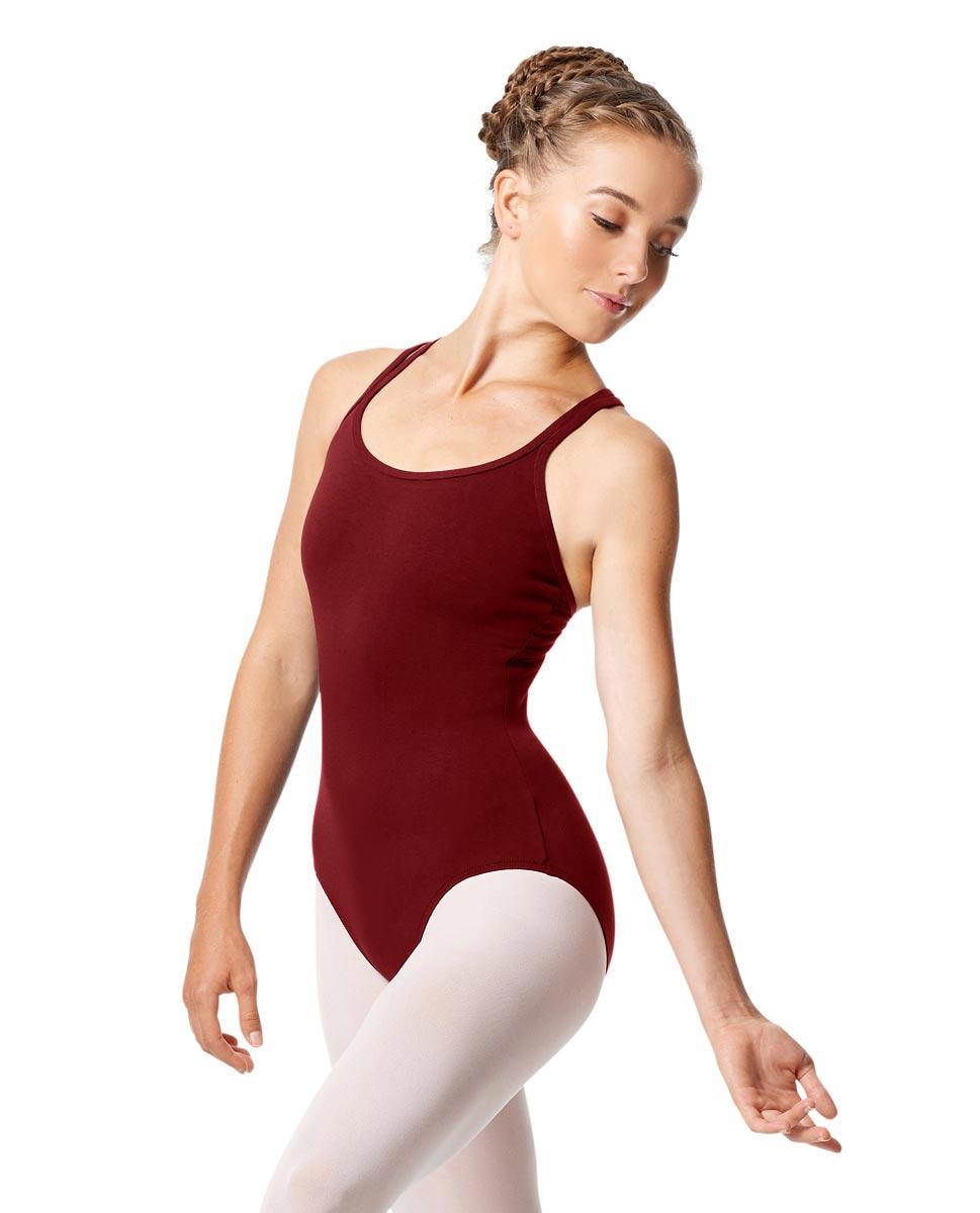 Womens Strappy Camisole Ballet Leotard Larissa BUR