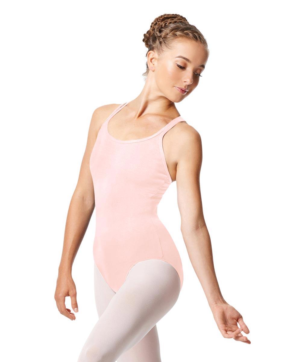Womens Strappy Camisole Ballet Leotard Larissa PNK