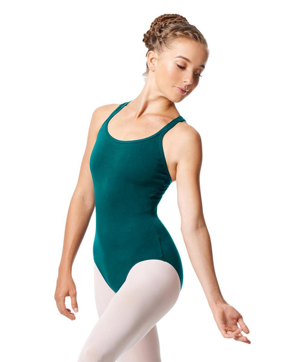 Womens Strappy Camisole Ballet Leotard Larissa TEA