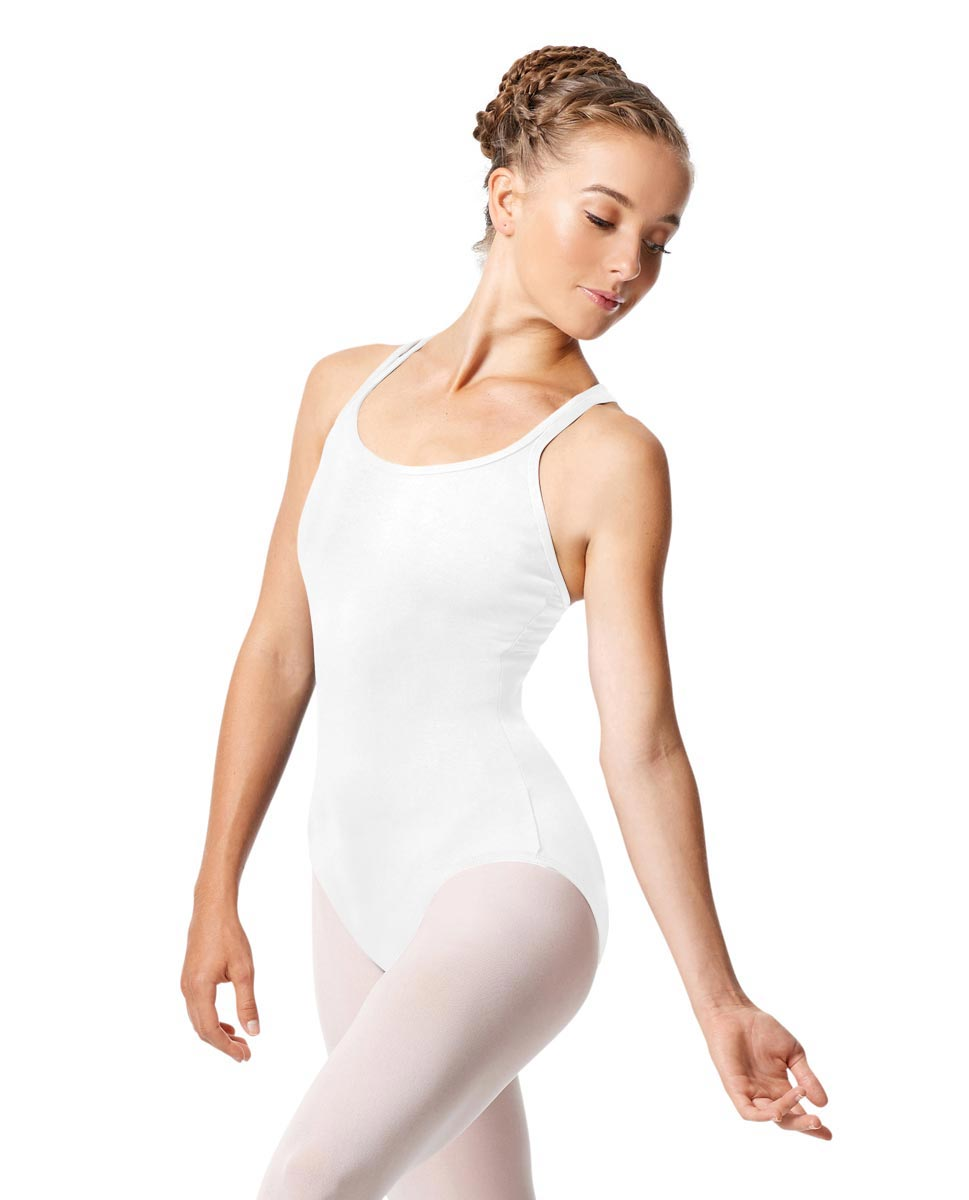 Womens Strappy Camisole Ballet Leotard Larissa WHI