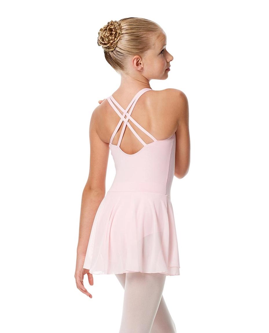 Child Strappy Skirted Ballet Leotard Linda back-child-strappy-skirted-ballet-leotard-linda