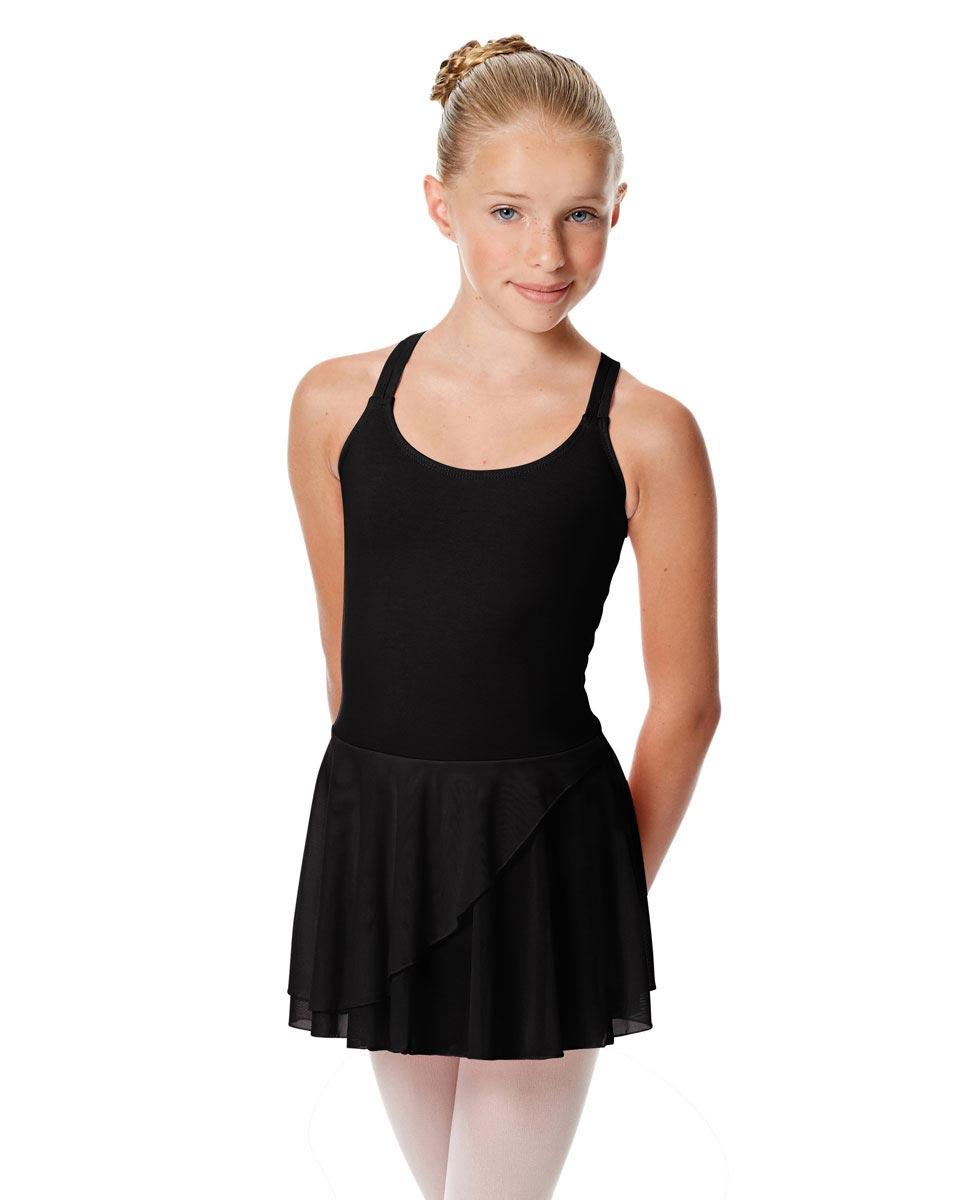 Child Strappy Skirted Ballet Leotard Linda BLK