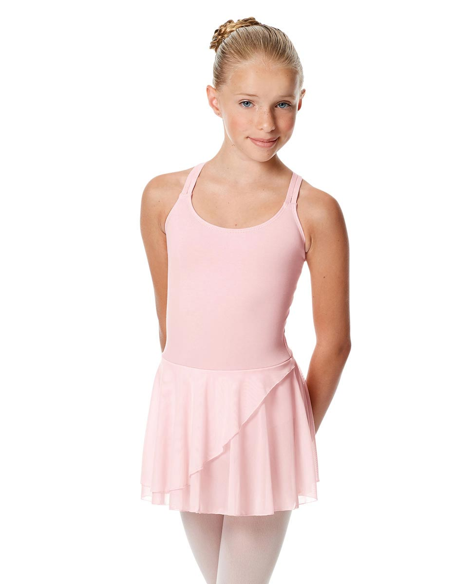 Child Strappy Skirted Ballet Leotard Linda PNK