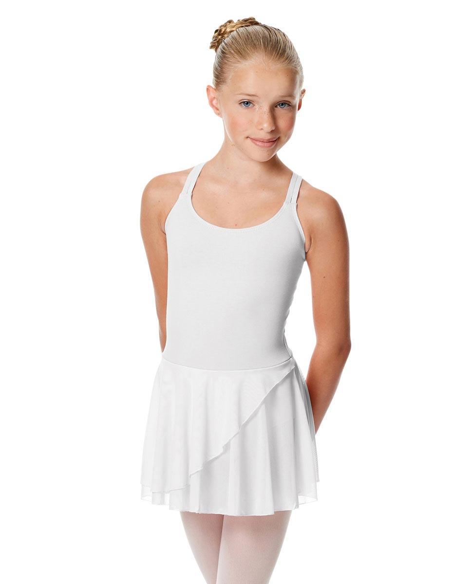 Child Strappy Skirted Ballet Leotard Linda WHI