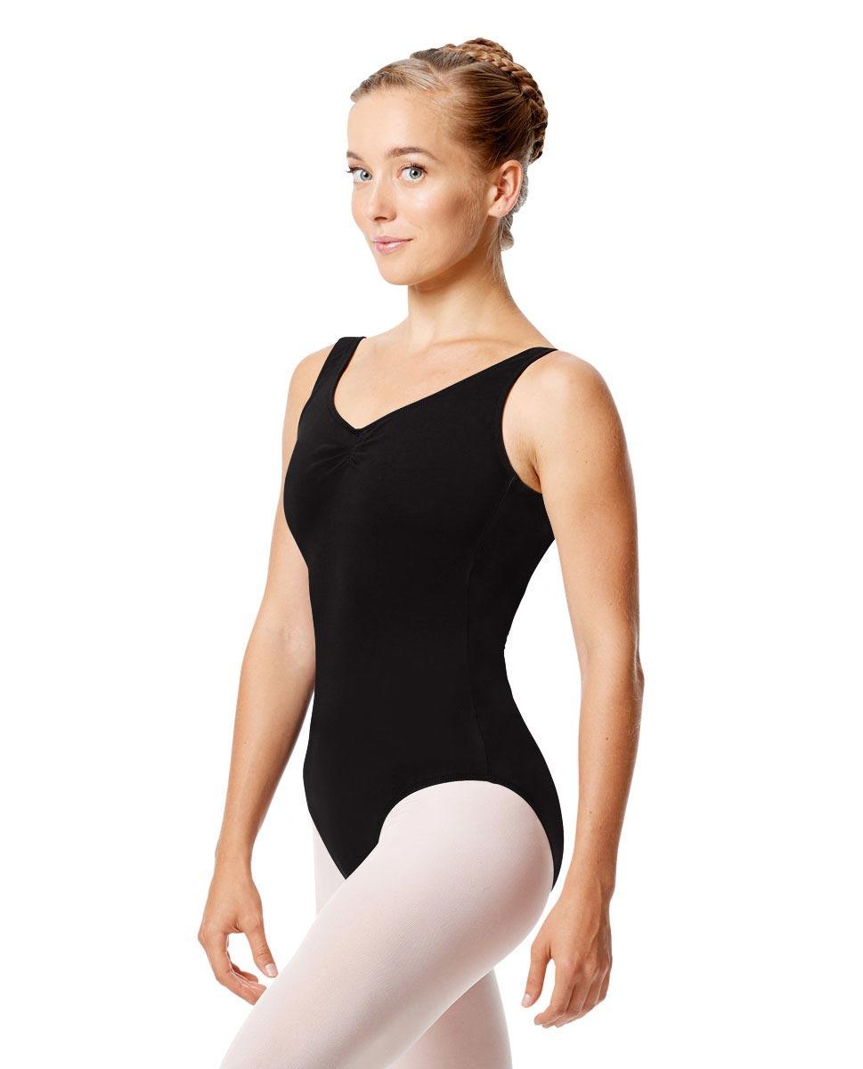 Womens Pinch Tank Ballet Leotard Shirley BLK