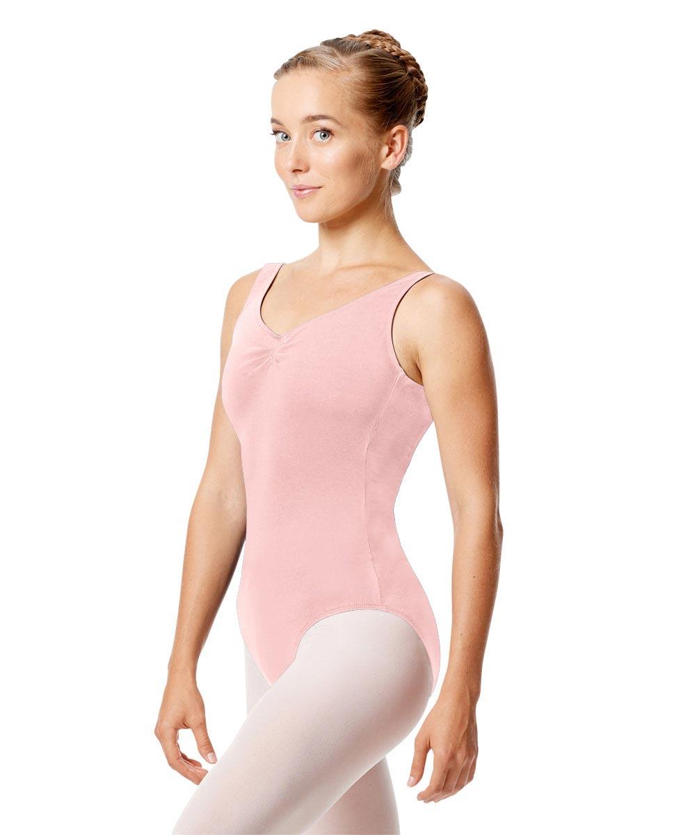 Womens Pinch Tank Ballet Leotard Shirley PNK