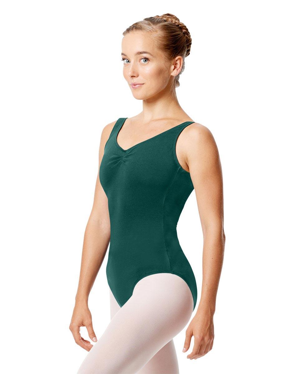 Womens Pinch Tank Ballet Leotard Shirley TEA