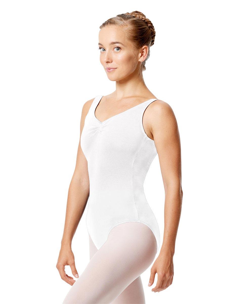 Womens Pinch Tank Ballet Leotard Shirley WHI