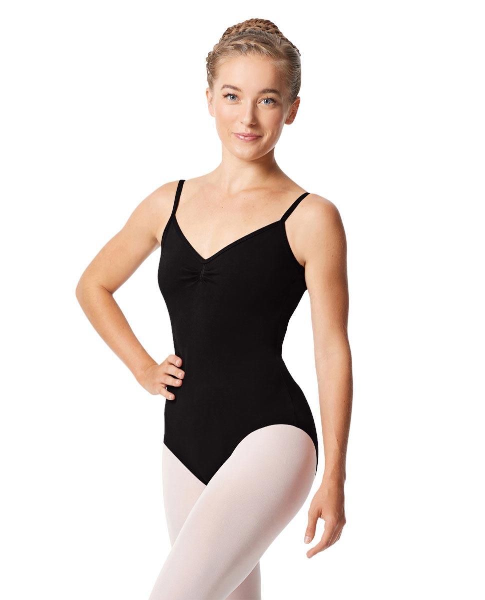 Womens Pinch Camisole Ballet Leotard Faina BLK