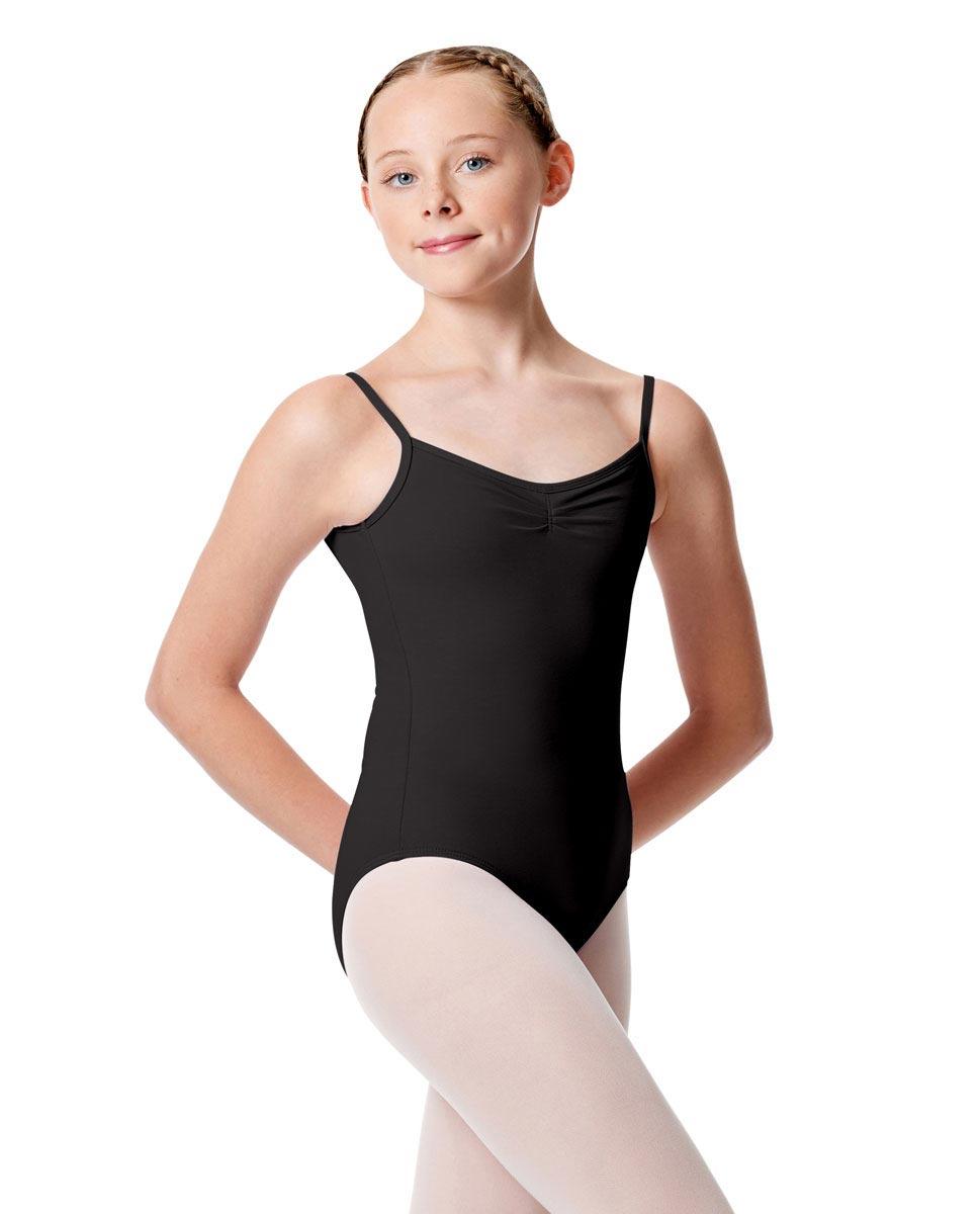 Child Pinch Camisole Ballet Leotard Faina BLK