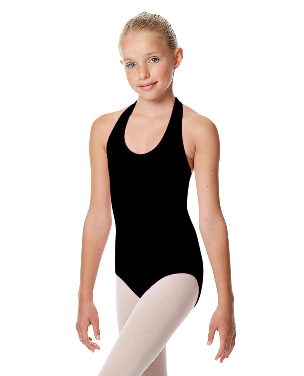 Child Halter Neck Dance Leotard Tamara BLK