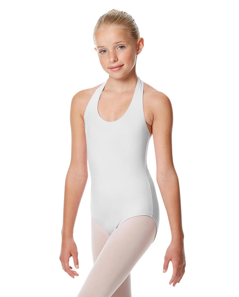 Child Halter Neck Dance Leotard Tamara WHI