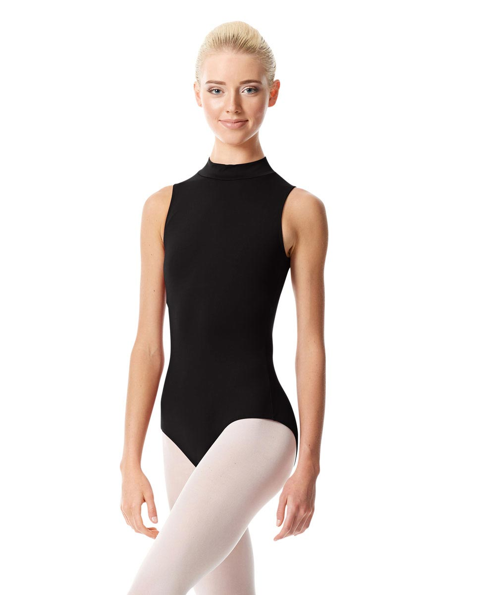 Womens Mock Neck Dance Leotard Belina BLK