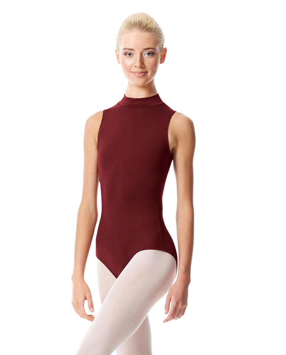 Womens Mock Neck Dance Leotard Belina BUR