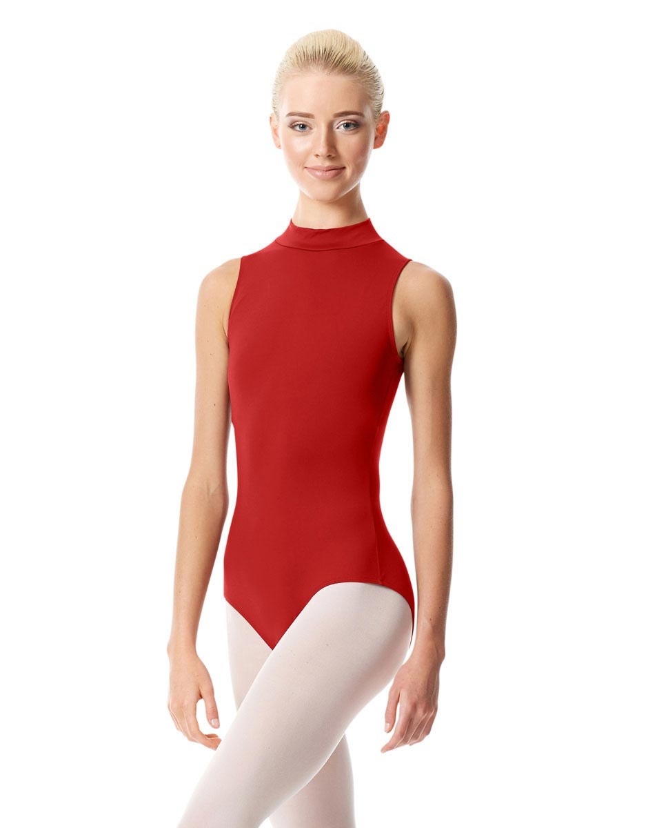 Womens Mock Neck Dance Leotard Belina DRED