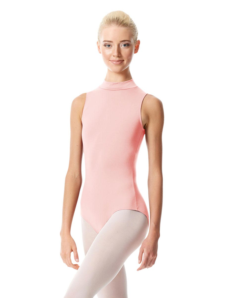 Womens Mock Neck Dance Leotard Belina PNK