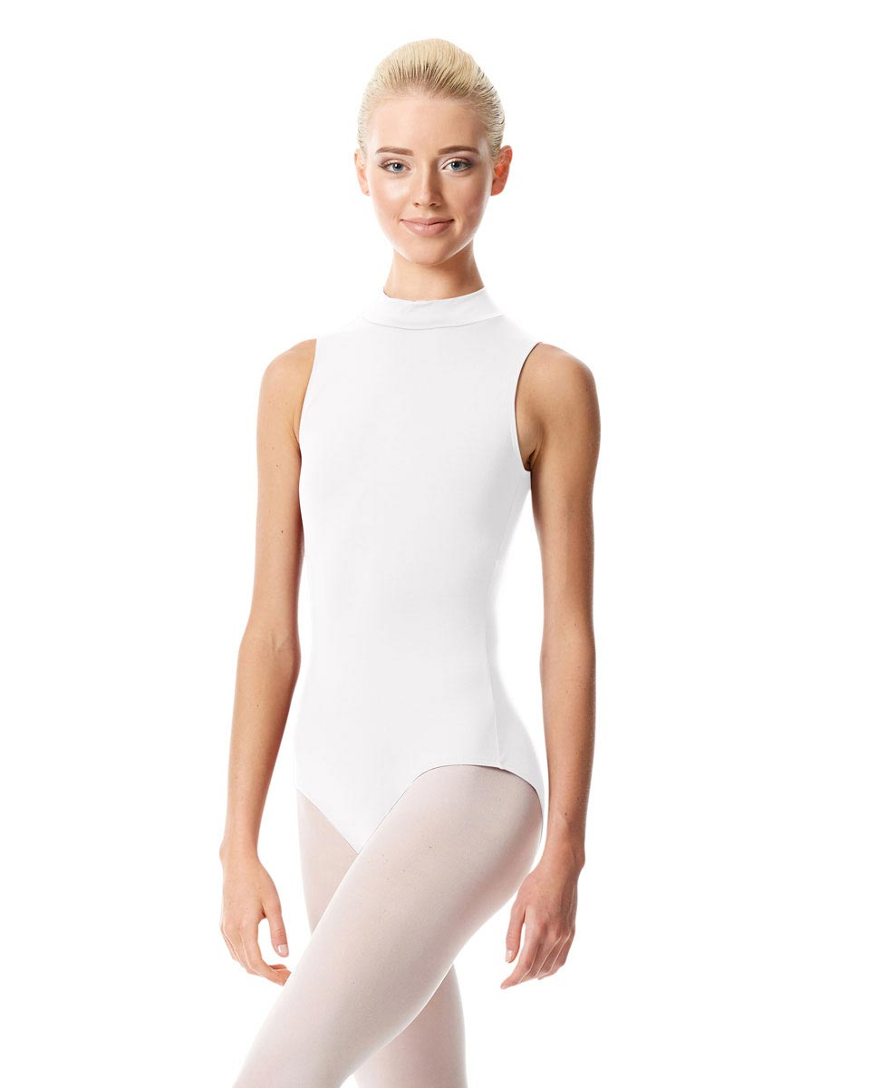 Womens Mock Neck Dance Leotard Belina WHI