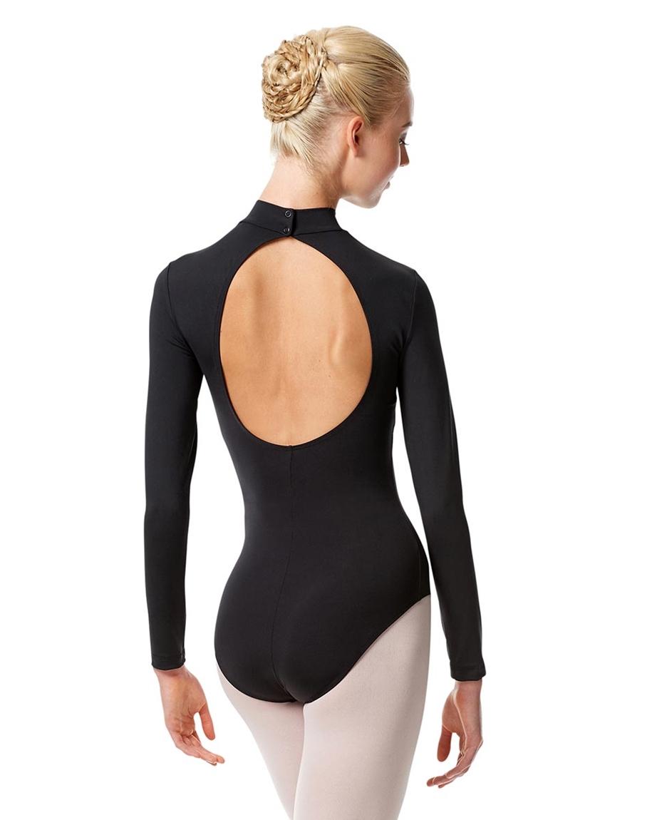 Long Sleeve Mock Neck Dance Leotard Liana back-long-sleeve-mock-neck-dance-leotard-liana
