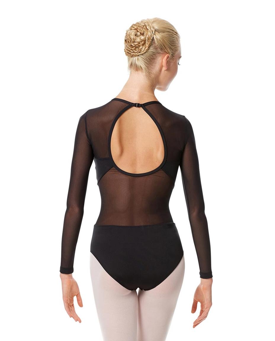 Adult Long Sleeve Mesh Dance Leotard Renata back-adult-long-sleeve-mesh-dance-leotard-renata
