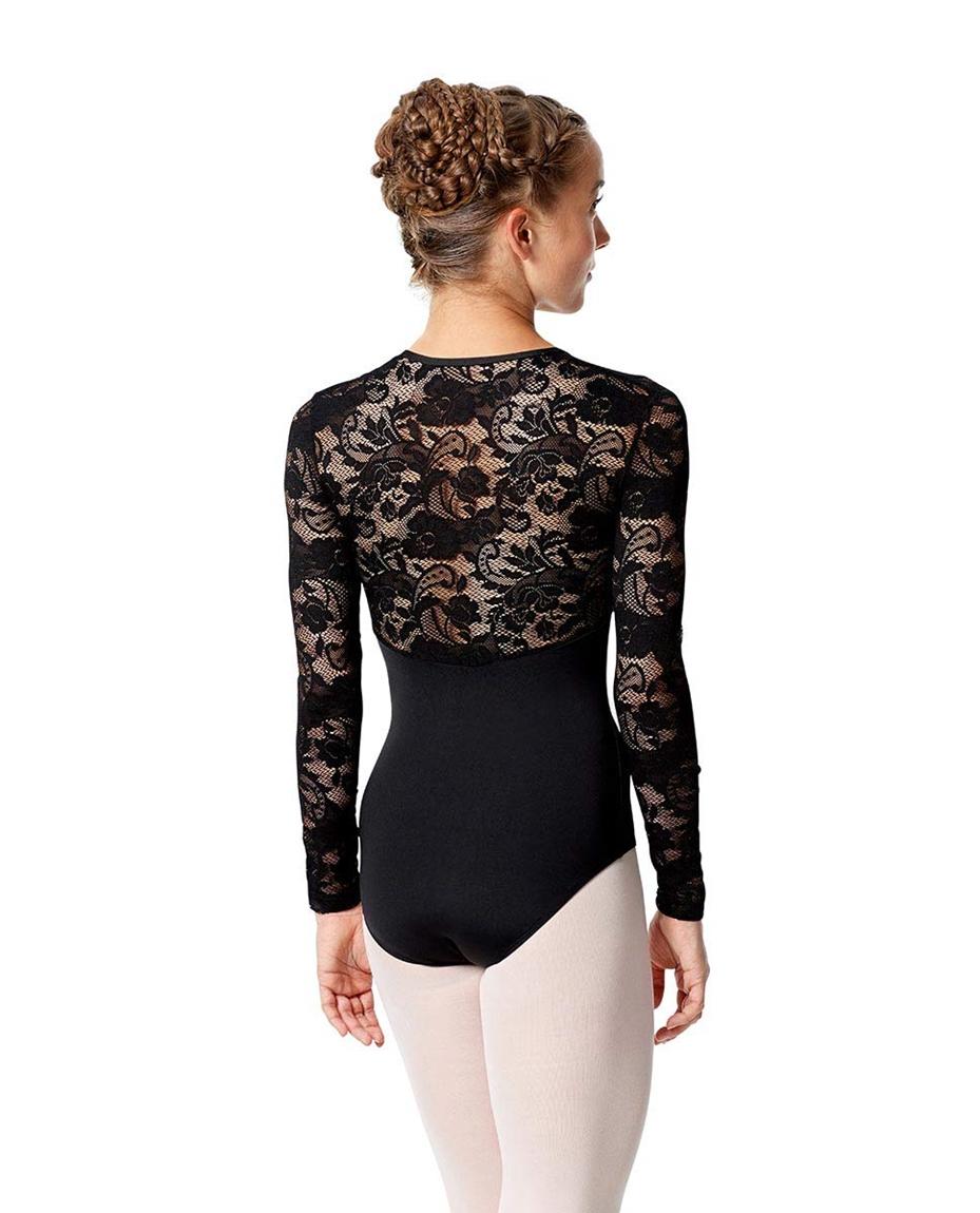 Womens Long Sleeve Lace Dance Leotard Jojo back-womens-long-sleeve-lace-dance-leotard-jaida