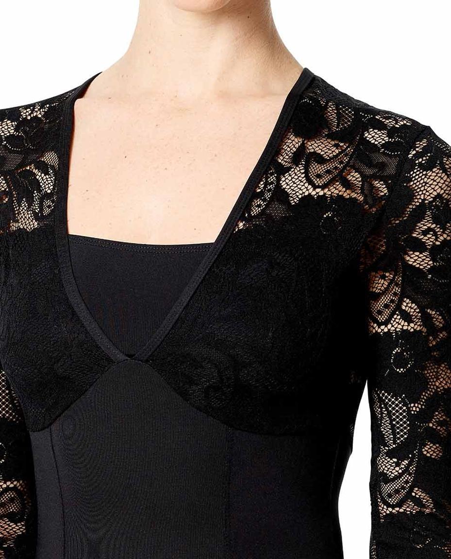 Womens Long Sleeve Lace Dance Leotard Jojo detail
