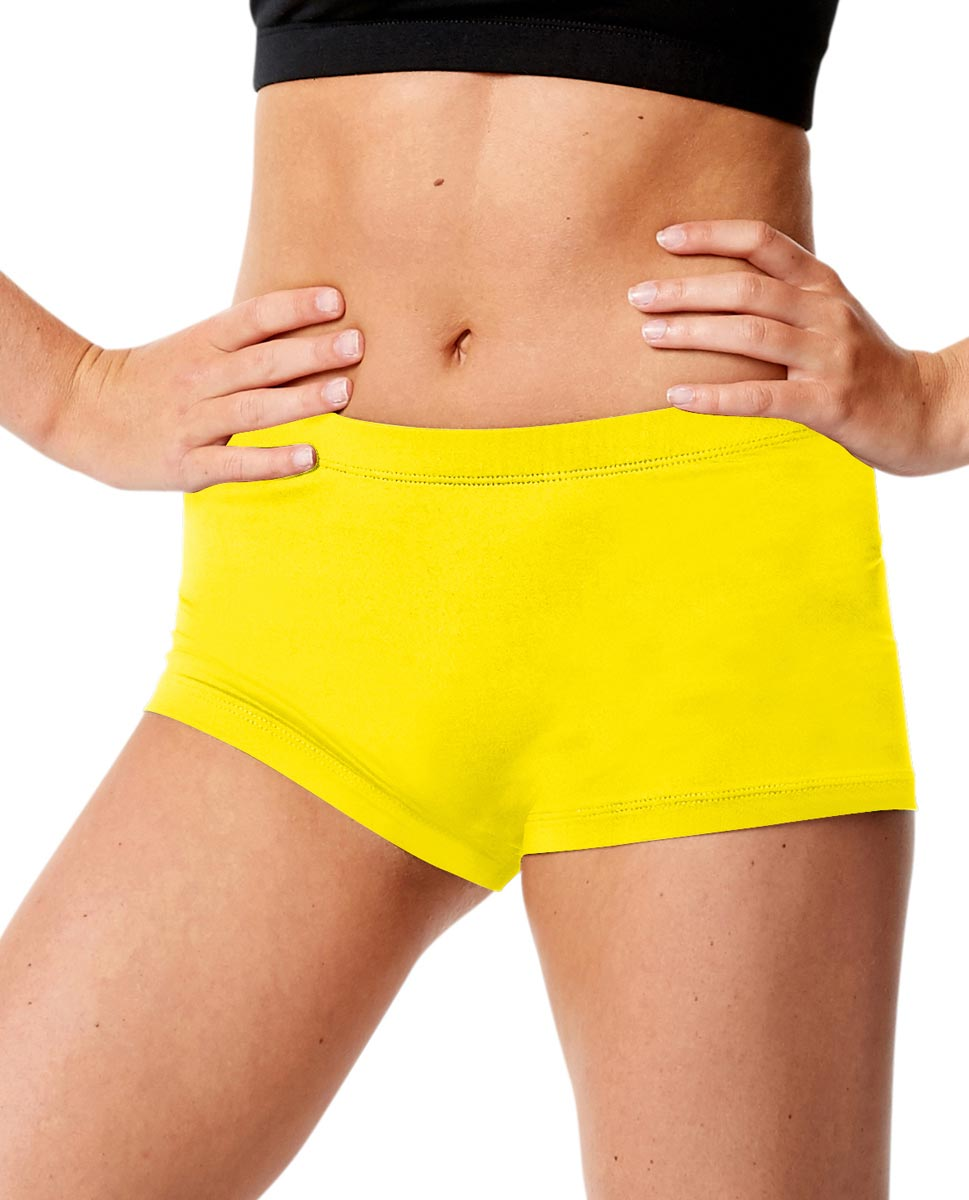 Adult Dance Hot Pants Lisette YEL