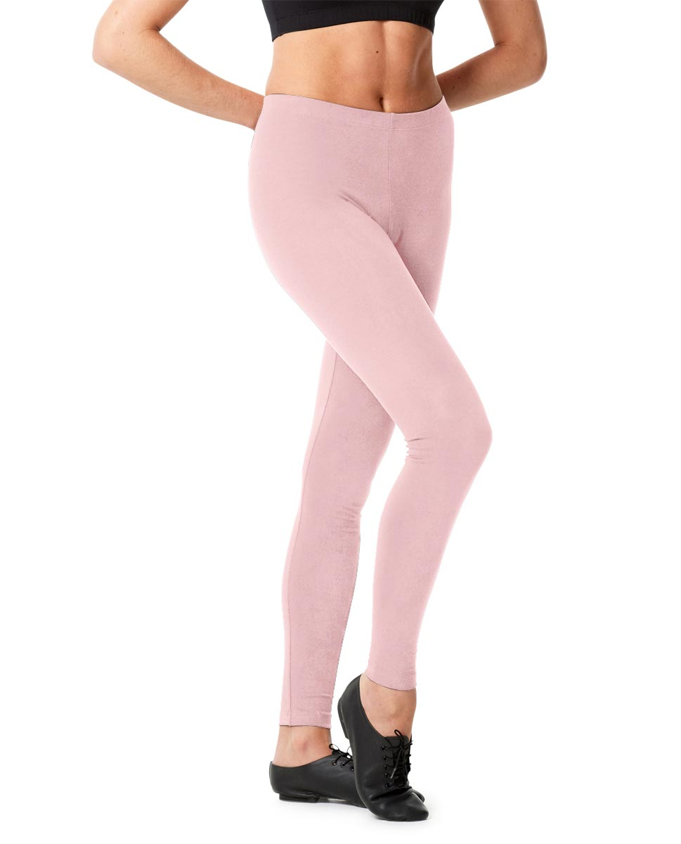 Adult Shiny Footless Dance Leggings Rafaella PNK
