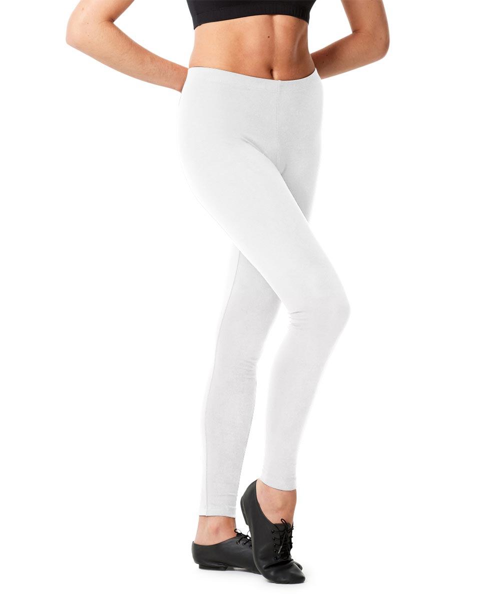 Adult Shiny Footless Dance Leggings Rafaella WHI