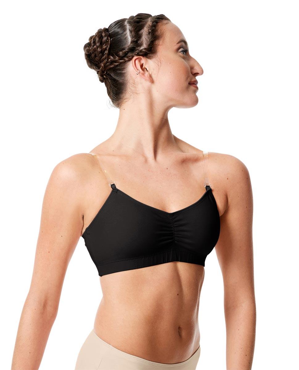 Womens Dance Undergarments Bra Top Roxana BLK