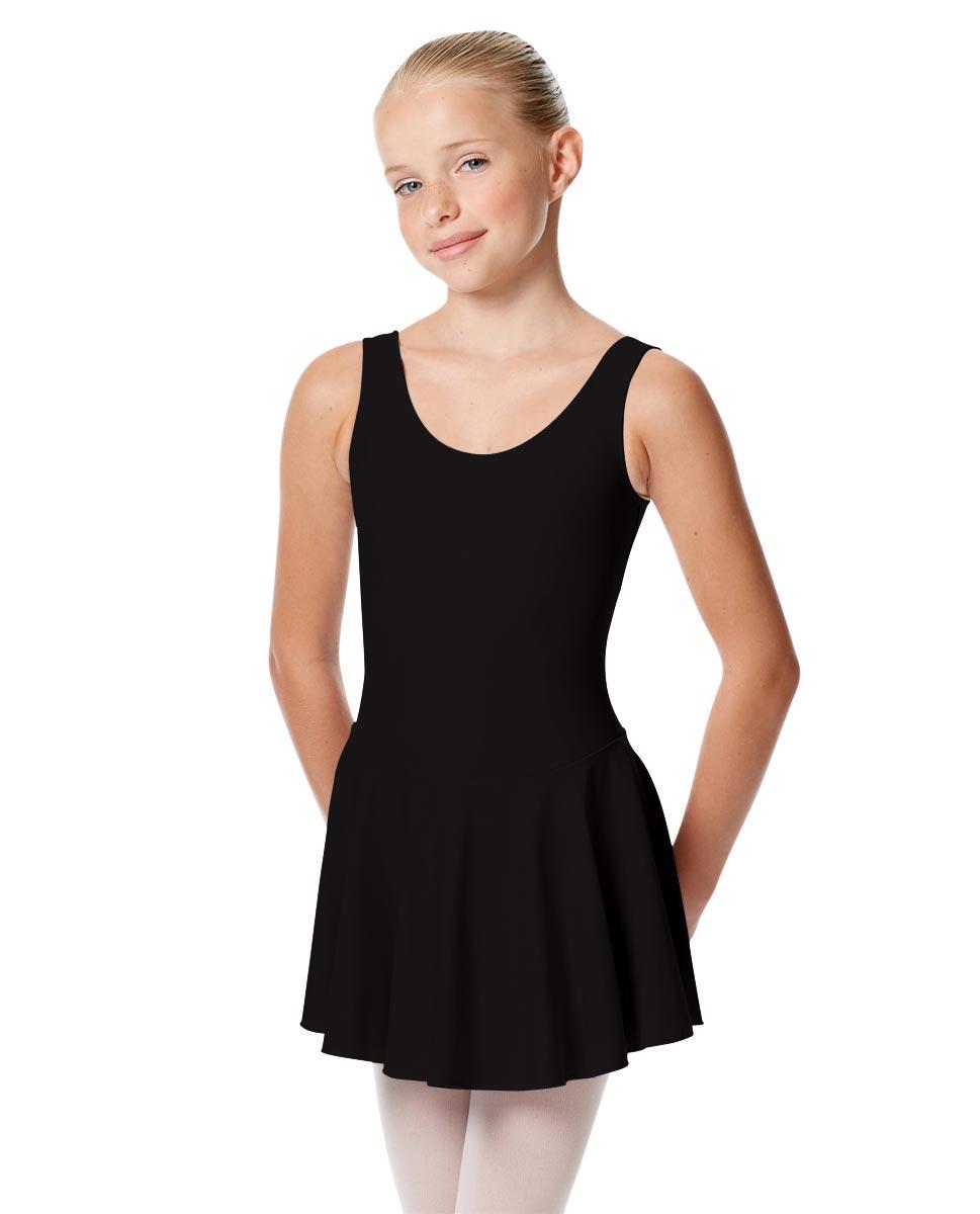 Child Skirted Ballet Tank Leotard Yasmin BLK