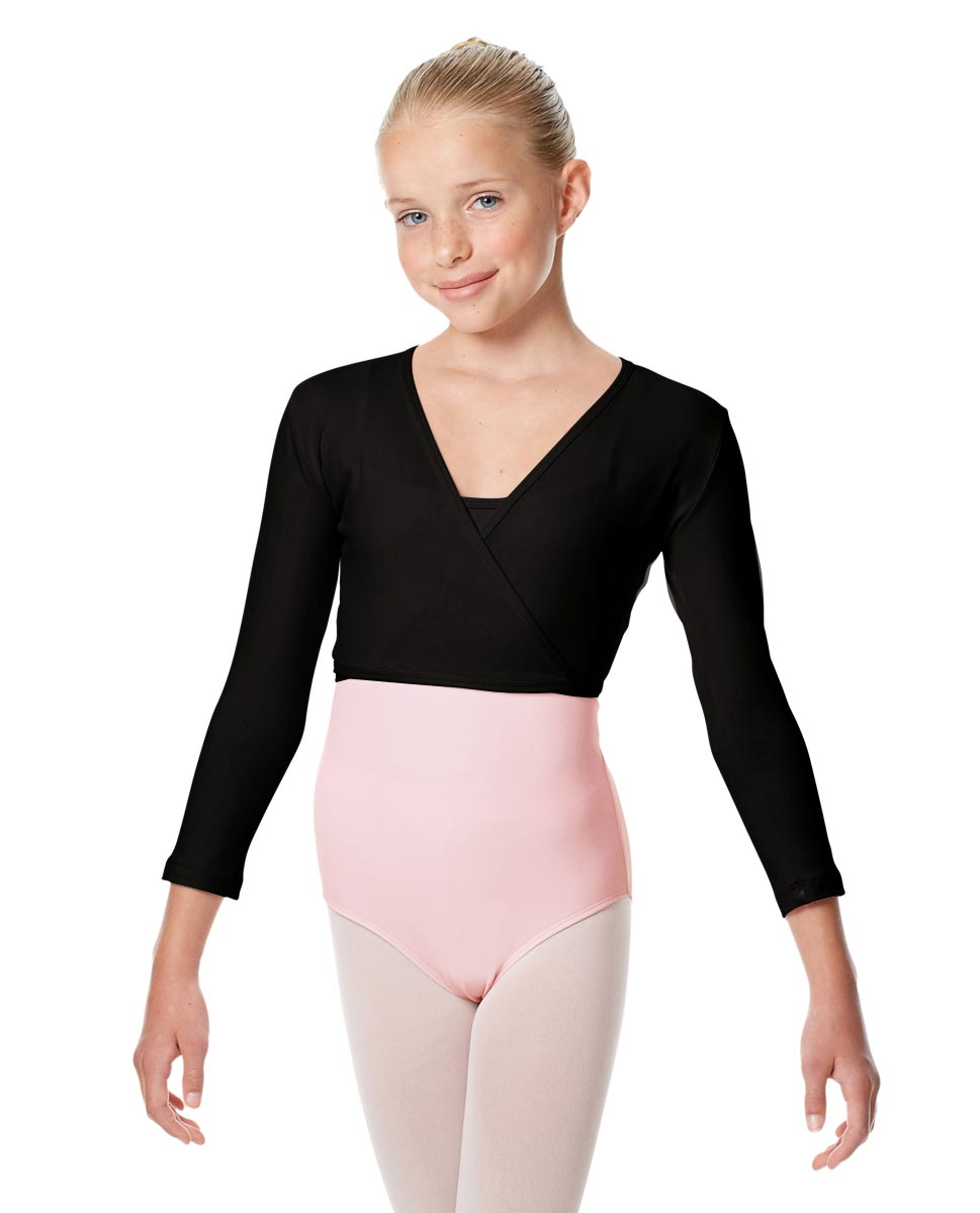 Girls Ballet Warm Ups Wrap Top Regina BLK