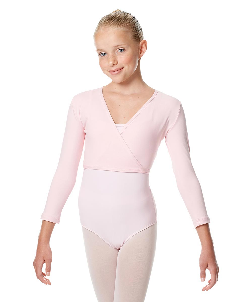 Girls Ballet Warm Ups Wrap Top Regina PNK