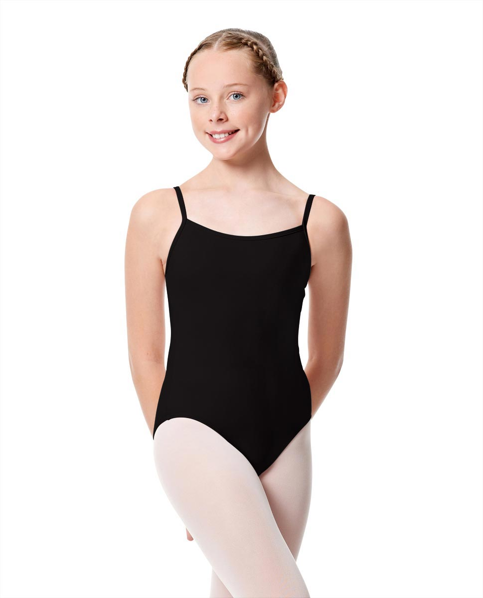 Girls Camisole Dance Matte Leotard Oriane BLK