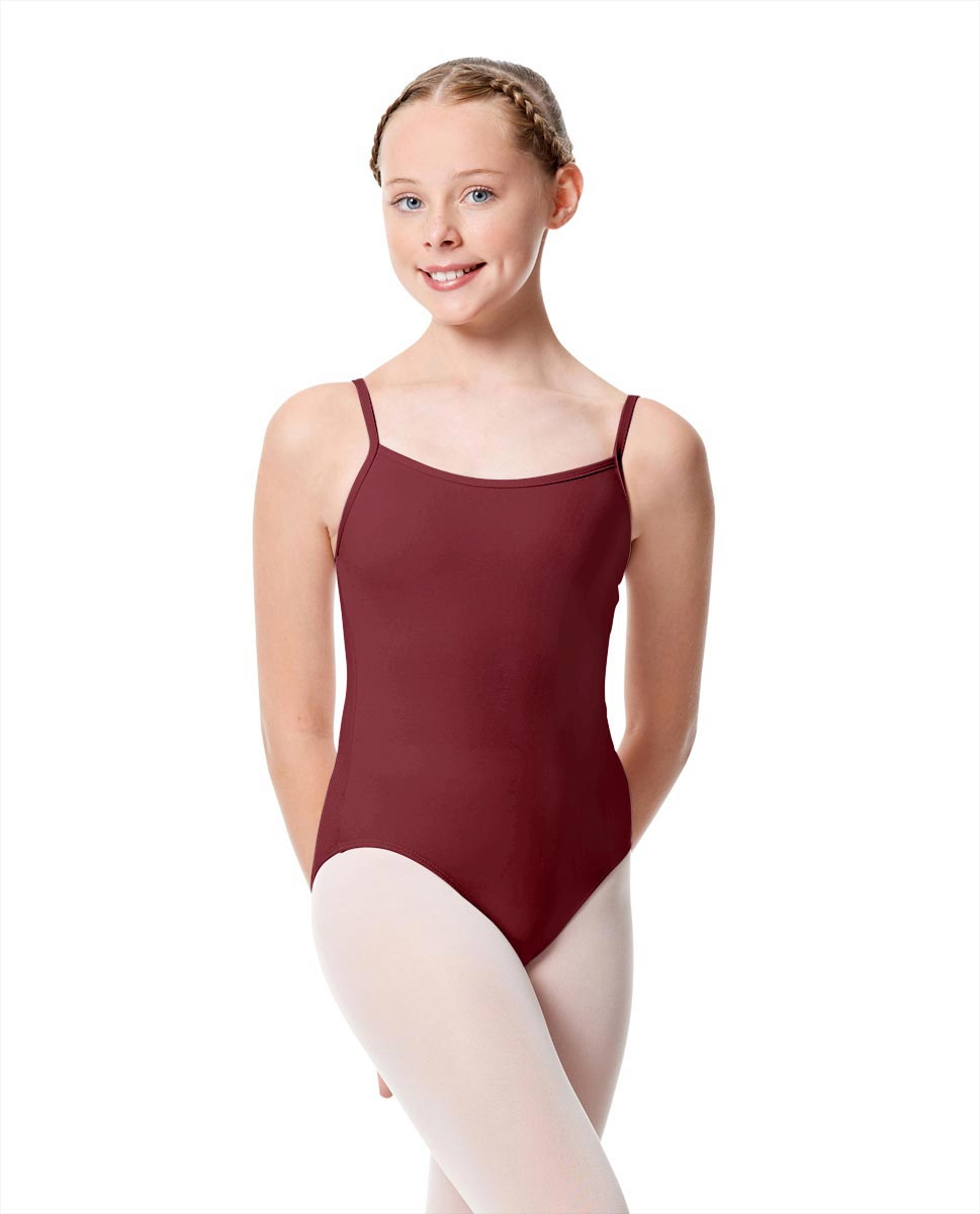 Girls Camisole Dance Matte Leotard Oriane BUR