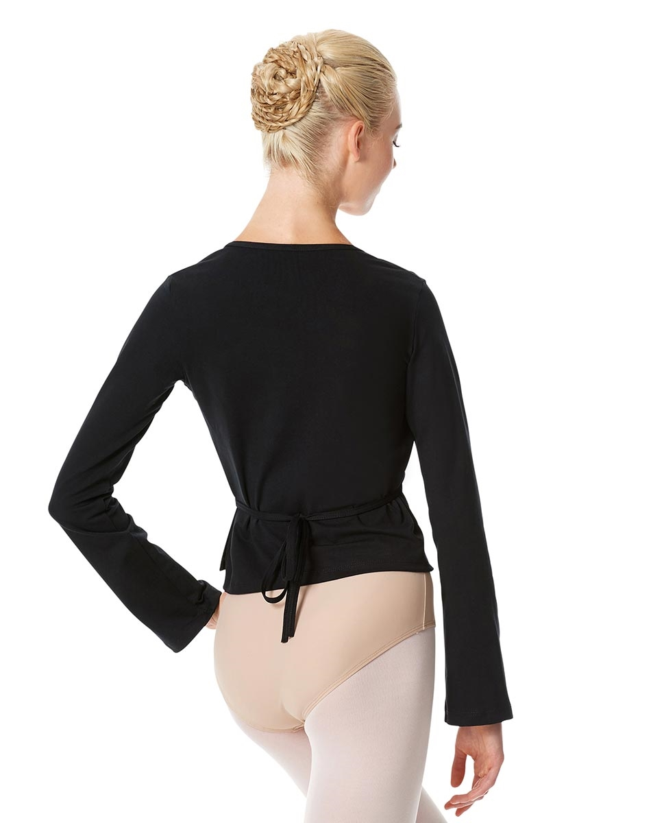 Womens Ballet Wrap Top Regina back