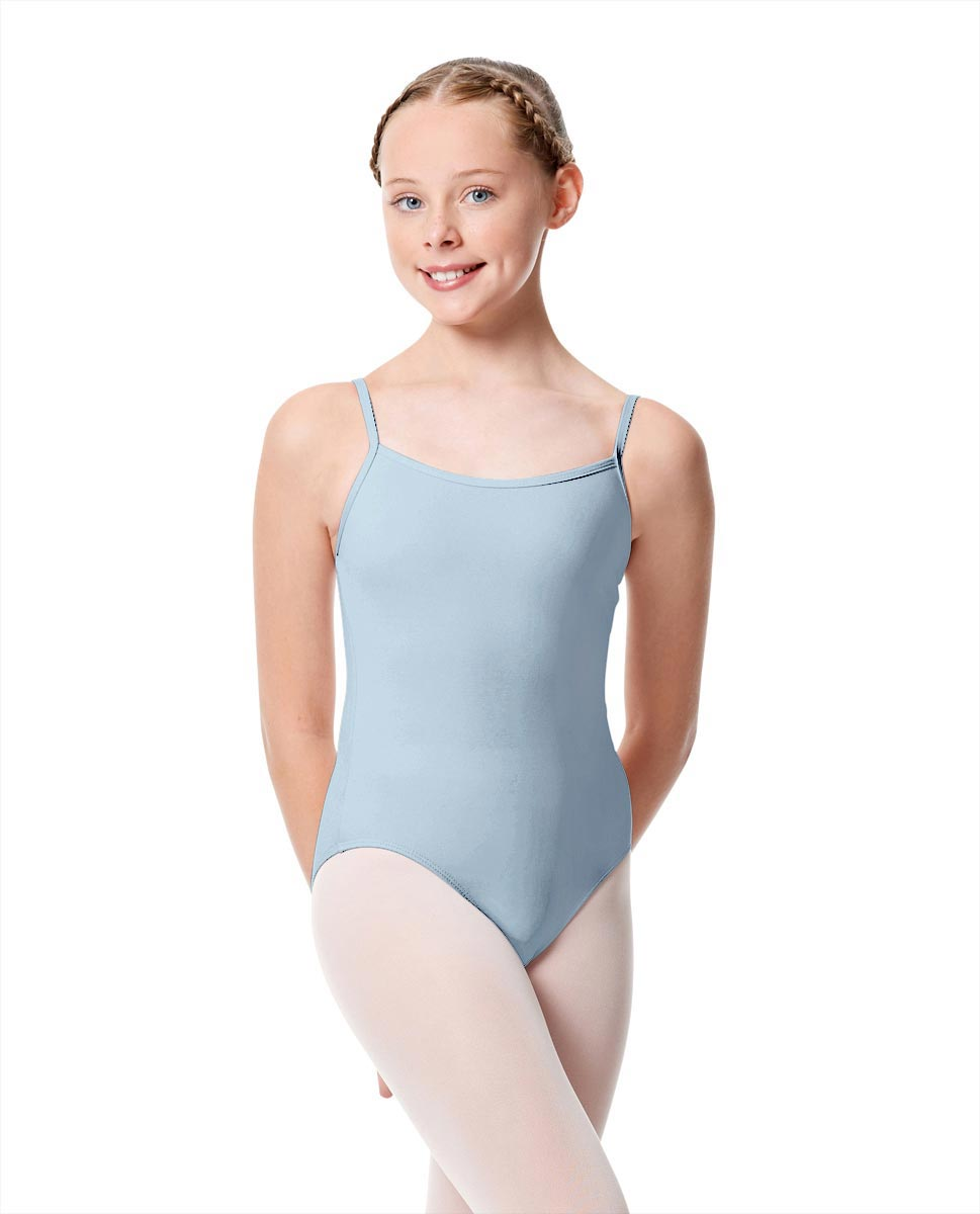 Girls Camisole Dance Matte Leotard Oriane SKY