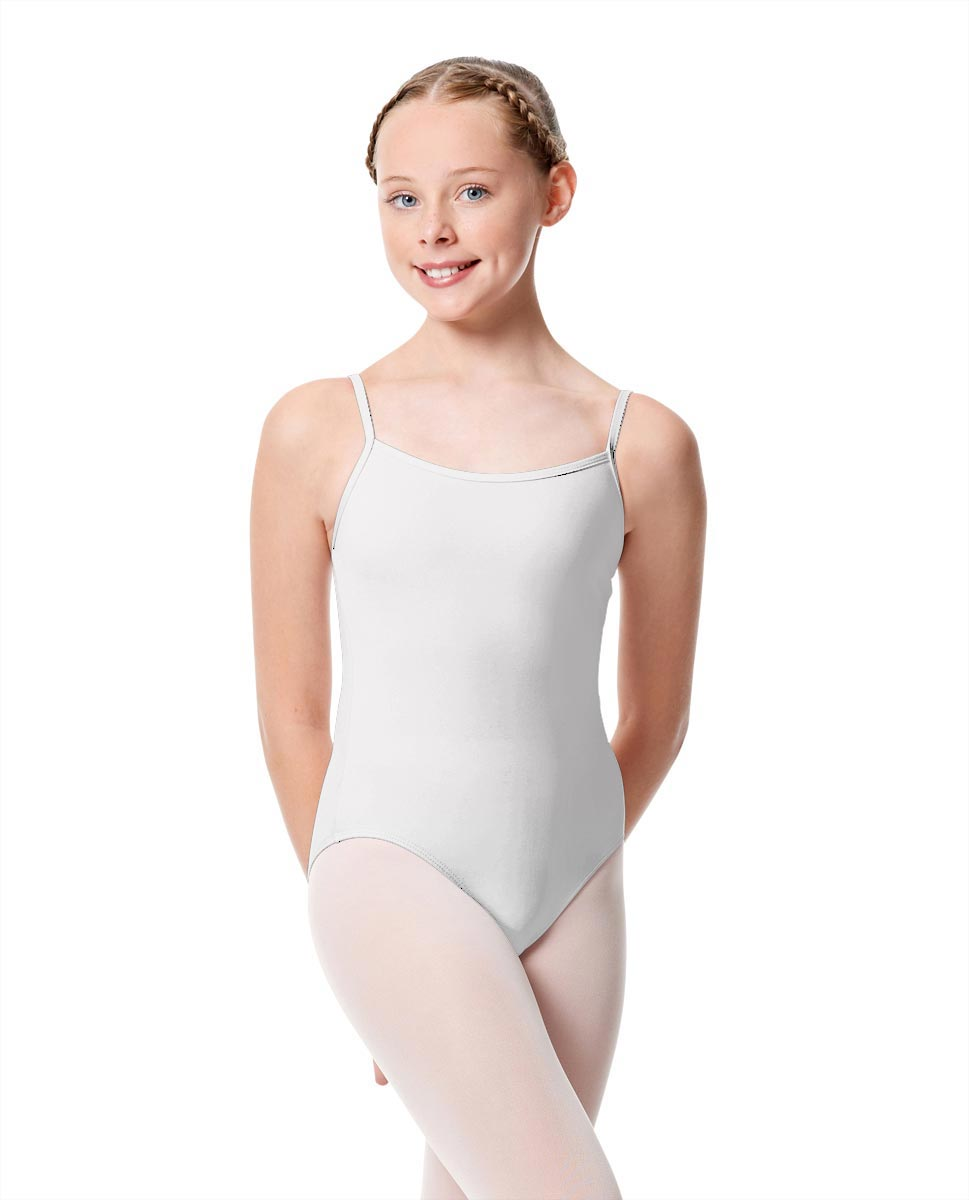 Girls Camisole Dance Matte Leotard Oriane WHI