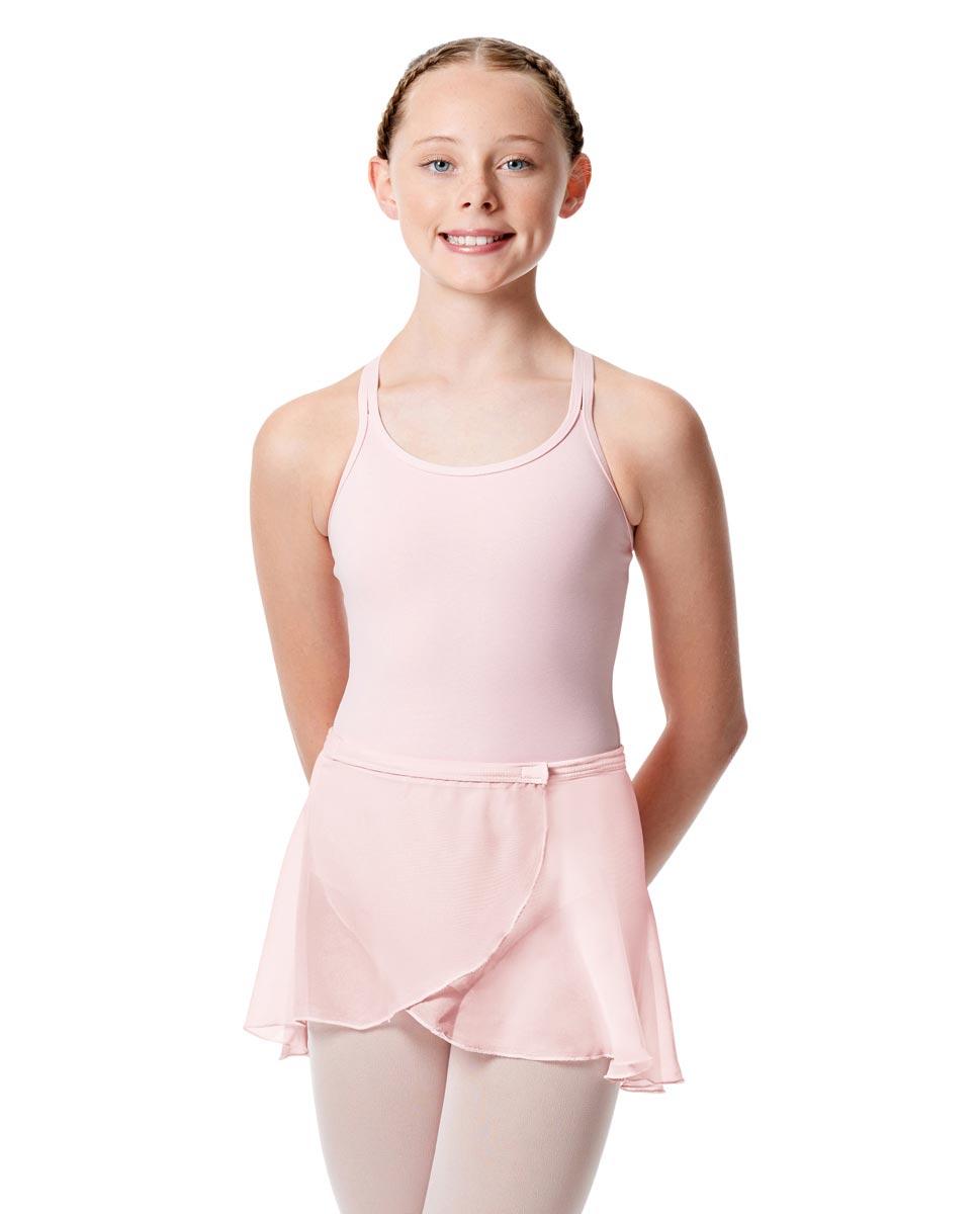 Girls Wrap Over Ballet Skirt Sasha PNK