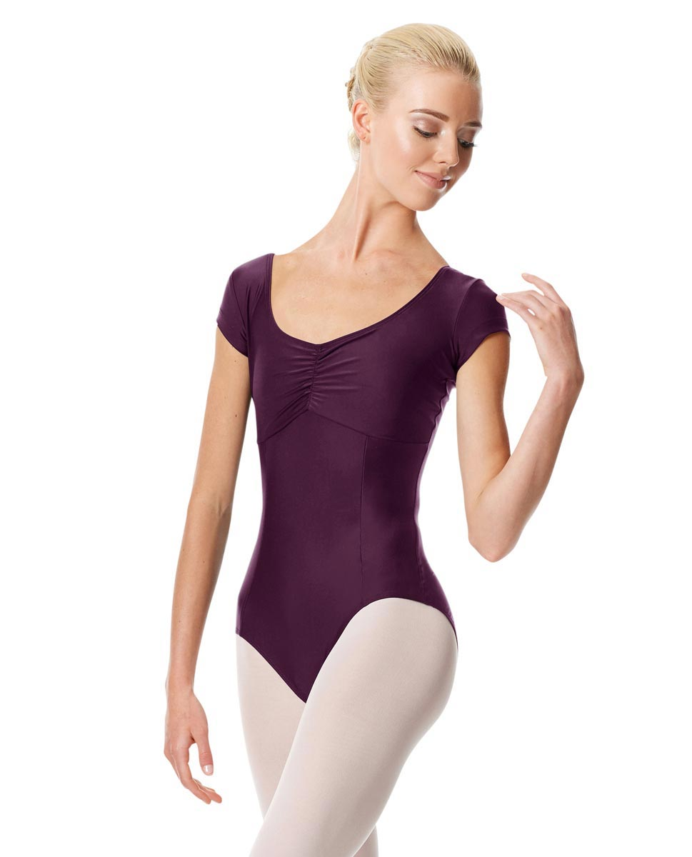 Pinch Front Cap Sleeve Dance Leotard Dinara AUB