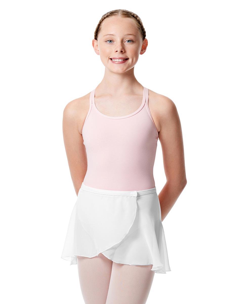 Girls Wrap Over Ballet Skirt Sasha WHI