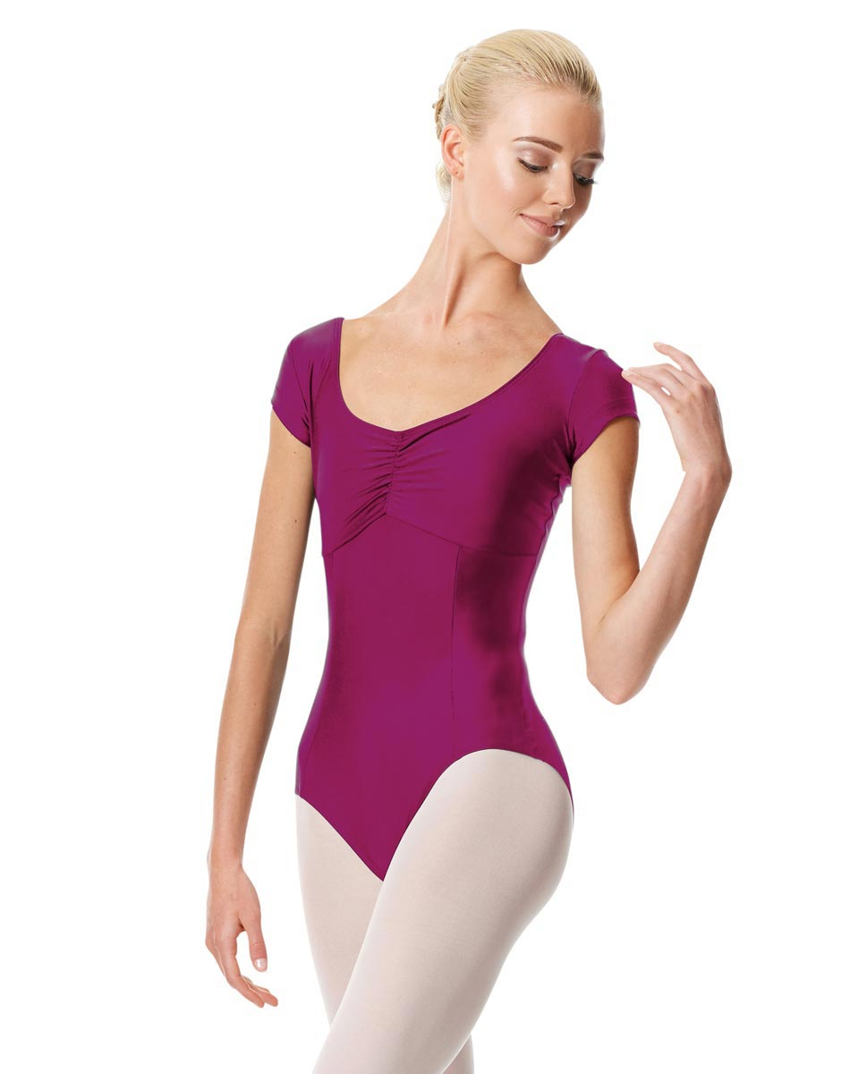 Pinch Front Cap Sleeve Dance Leotard Dinara MAG