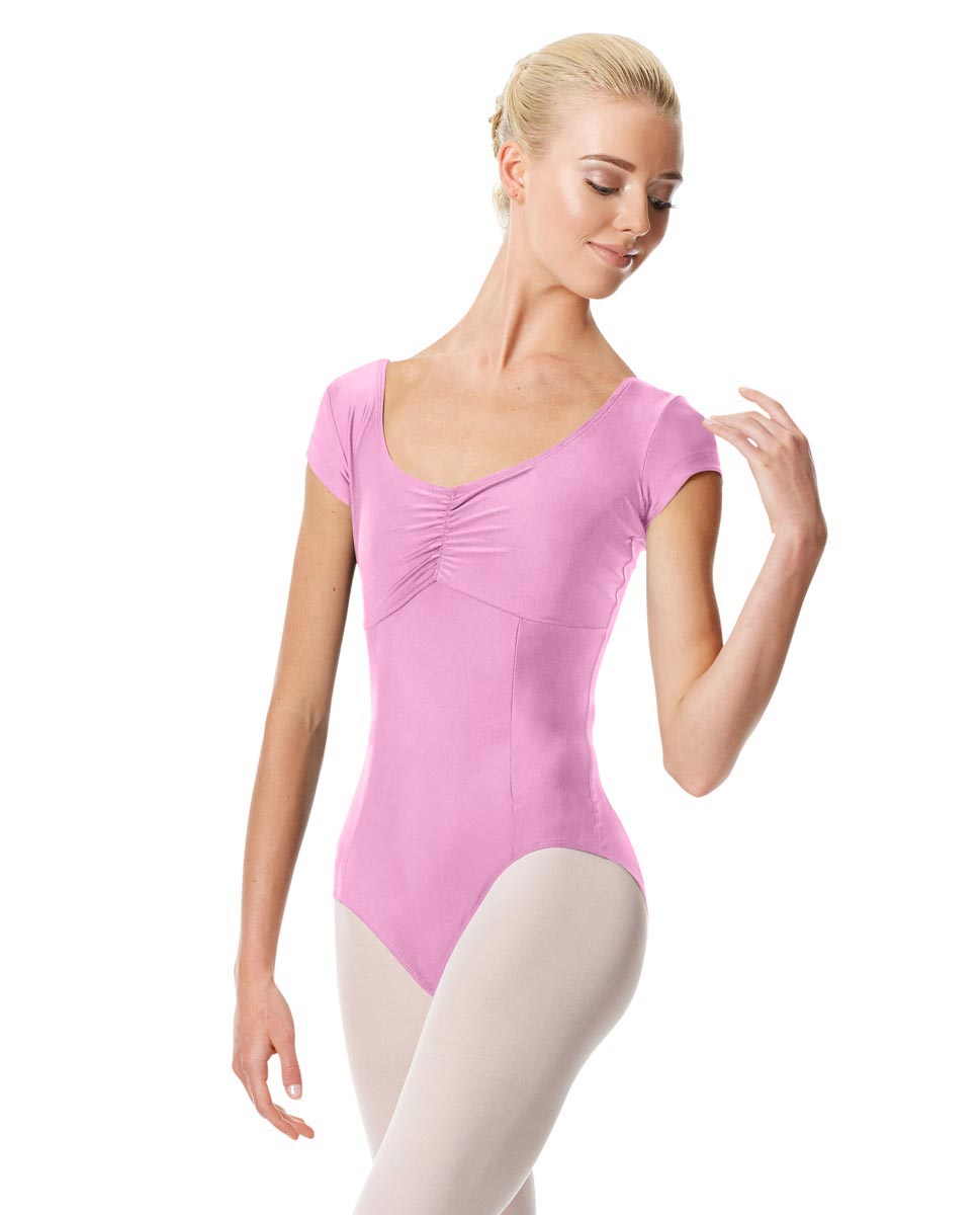 Pinch Front Cap Sleeve Dance Leotard Dinara ORC